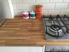 ONO Solid Oak work surface 26 x 600 x 2540 mm. large piece from kitchen refit. Unused & ready go!