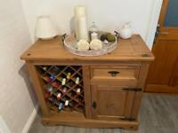 Side board with wine rack
