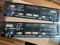 Autohaus Number Plate Surrounds VW Audi