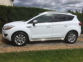 FORD KUGA TITANIUM 2.0 DIESEL (2WD) 2011 ONLY 52000 MILES FROZEN WHITE FSH MOT MARCH 2018