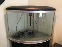 170L corner fish tank + stand