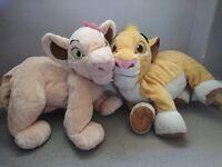 Disney Simba and Bala large soft toys