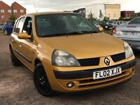 Renault Clio 1.2 2002 + JUST 44,000 MILES + SERVICE HISTORY + 12 MONTHS MOT