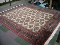 carpet in excellent condition. size 3m 11cm x 2m 55cm. Bokhara, Pakistan.