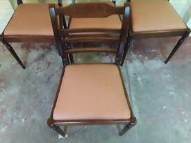 4 mahogany dining chairs