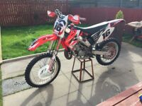 cr 125 (134cc) brand new build two new tyres, not ktm kx rm