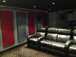 Custom Acoustic Treatment for Home Theatre and Recording Studio