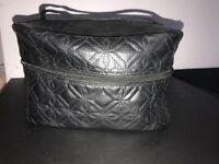 Black make up/toiletry bag 28cm x 18cm x 15cm