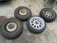Various tyres and rims 2x bmw 2x citroen