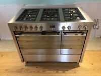 Professional 110cm Dual Fuel Cooker in Stainless Steel