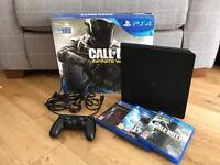 PS4 Console, 1 Controller, 3 Games