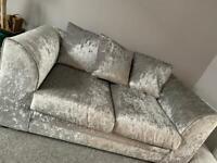 Crushed Velvet 2 seater Sofa £100 ONO