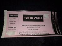TOKYO WORLD TICKETS