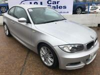 BMW 1 SERIES 2.0 120D M SPORT 2d 175 BHP A GREAT EXAMPLE INSIDE AND OUT (silver) 2008