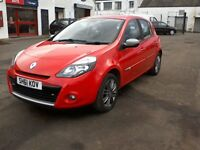 FREE DELIVERY - 2011 RENAULT CLIO DYNAMIQUE TOMTOM 1.1L PETROL,45K, SAT NAV, YEAR MOT, FREE DELIVERY