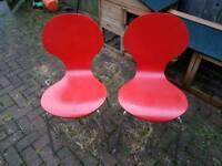 Retro chairs x 2