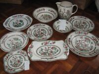 Selection of Vintage Indian Tree crockery, mainly Johnsons.