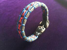 Handmade genuine leather bracelet