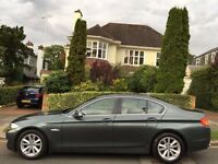 BMW 5 SERIES 2012 2.0 520d SE 4dr DIESEL*AUTOMATIC*WHITE LEATHER SEATS ** 1 OWNER FROM NEW * 2 KEYS