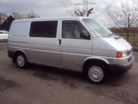 volkswagen transporter day van [has bed units and sink fitted]