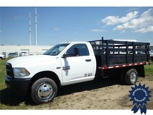 2015 Ram 3500 ST 4WD Regular Cab, Seats 3, 12' Flat Deck Truck