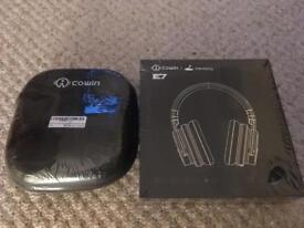 Cowin E7 noise cancelling Bluetooth headphones with hard case