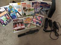 Black Nintendo Wii Console plus games