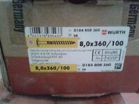 Construction Bolt TG VZ Plate 8,0 x 360 MM/Pck a 100pcs box