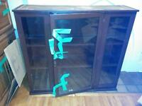 Bookcase with glass doors / hutch