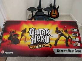 Sony PS3 console & Guitar Hero Complete Band Bundle