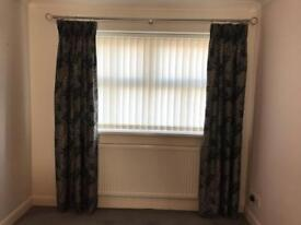 Grey Floral Patterned Dress Curtains