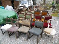 ANTIQUE CHAIRS FOR RESTORATION