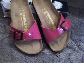 Birkenstocks Madrid size 6 in tango red ( as new never been worn)