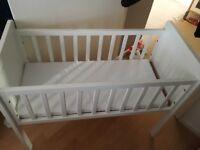 Mothercare crib and matress