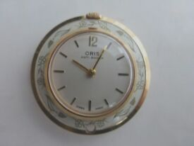 Watch - Oris ladies pendant watch with chain.
