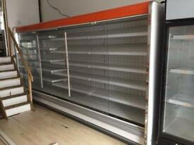 M 3.75 dairy cabinet and 2 double door standing fridge