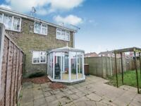 3 bedroom end of terrace family home with Conservatory, Garage, Garden.