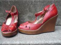 Ladies Mary Jane peep toe wedges for sale
