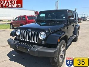 2017 Jeep WRANGLER UNLIMITED SAHARA,NAVIGATION,AUTOMATIQUE,DISPO