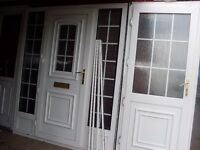 1 nearly new upvc back door georgen bar nearly brand new with key