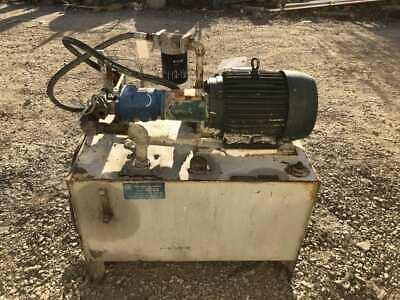 Vickers Pvb15-rsy Hydraulic Axial Piston Pump Power Unit 10hp 3000psi 3ph 50gl