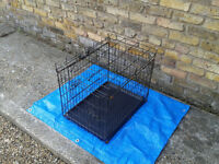 Cage with Savic Cover Dog Puppy Cat Kitten Pet Rabbit Vet Box FREE LOCAL DELIVERY