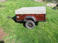 Trailer 4x3ft with fitted lights and new cover