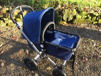 Bugaboo Chameleon newborn cot/stroller - Navy Blue + extras. Good condition. Will deliver to London.