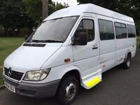 2004 AUTOMATIC MERCEDES-BENZ SPRINTER. DIESEL.17 SEATER.FULLY CERTIFIED.MINIBUS.BRILLIANT CONDITION.
