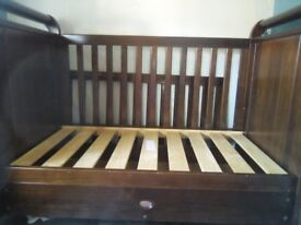 Beautiful english oak Cot bed, had for 5 years good condition apart from scratches from teething