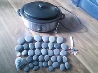 Stone massage heater +stone+chakra stones