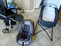 hauck malibu all in one travel system\price reduced