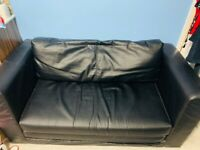 Free black feux leather sofabed