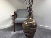 Large decorative dark gold pot